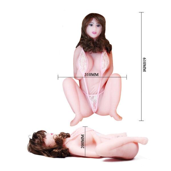 Masturbador Corpo Feminino com Dois Orifícios Penetráveis e Pelos Pubianos - Sexshop