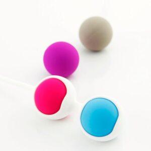Bolas de Pompoar com Alça de Segurança e Pesos 28g e 37g - Sexshop