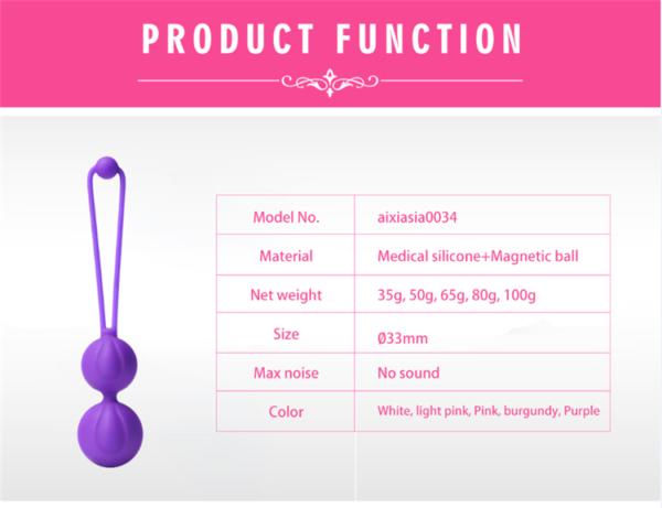 Bolas de Pompoar em Silicone para Pompoarismo com 5 Pesos - Lulu - Sexshop