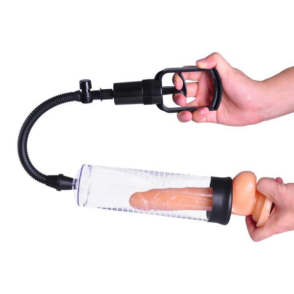 Bomba Peniana Manual com Mangueira Flexível - PENIS PUMP - Sexshop