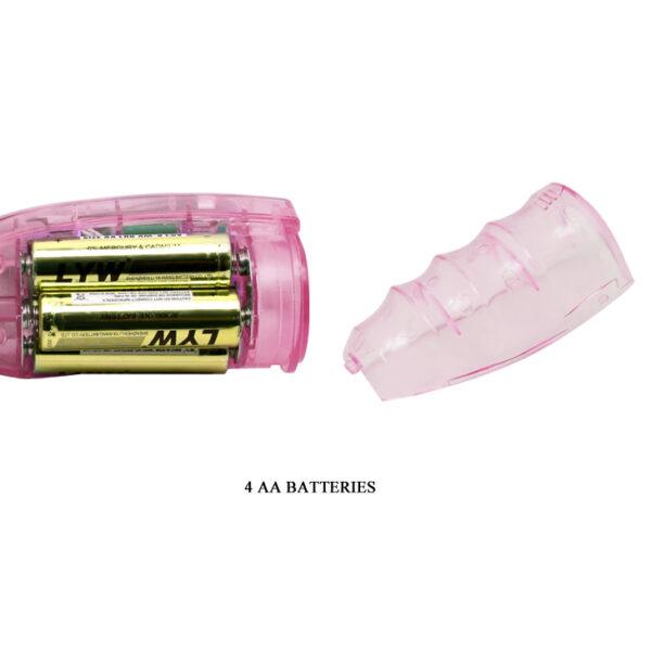 Vibrador Rotativo com Estimulador Clitorino Elefante - TRAVEL PARTNER - Sex shop