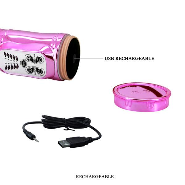 Vibrador Recarregável Rotativo Sobe e Desce com 5 Modos de Vibração - THROBBING BUNNY - Sex shop