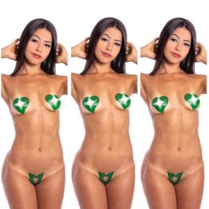 Kit 03 Tapa Sexo Menta Coração Karamela Comestível Hot Flowers - Sexshop