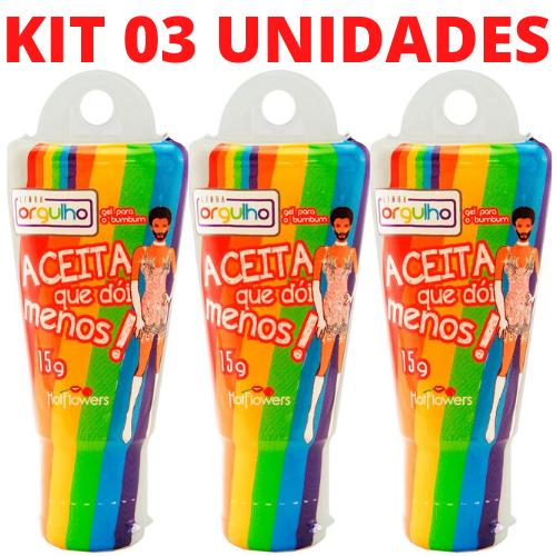 Kit 03 Deslizante Anal Aceita que Dói Menos 15g Hot Flowers - Sex shop
