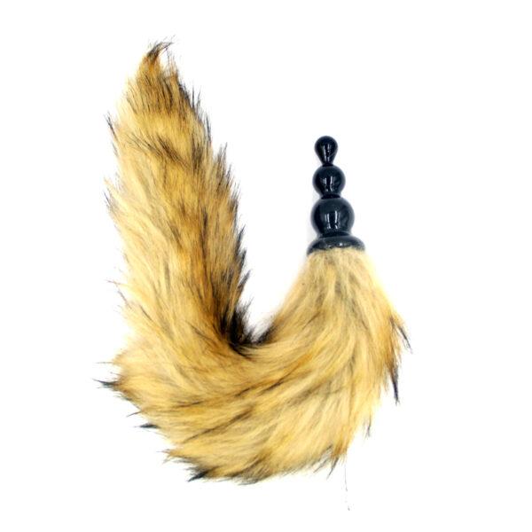 Plug Anal Ondulado de silicone com cauda de raposa - Sex shop
