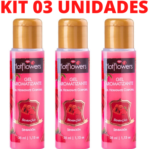 Kit 03 Gel Quente Aromatizante Sensação 35ml HotFlowers - Sexshop
