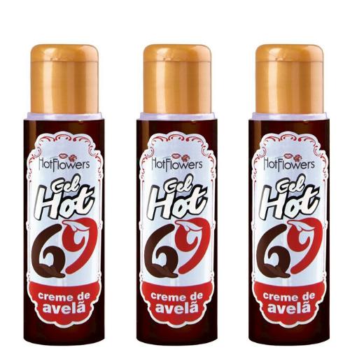 Kit 03 Gel Quente Aromatizante Creme Avela 35ml HotFlowers - Sexshop