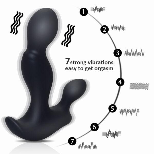 Massageador de Próstata Recarregável Sinuoso com 7 Modos de Vibração - SMALL RUN