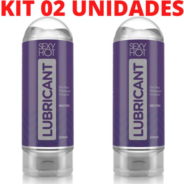 Kit 02 Lubricante - Gel para Massagem Erótica Sexy Hot - Neutro - Sex shop