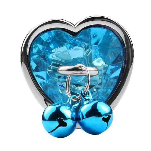 Plug de Coração em Aço Com Sino - Tamanho G - Sex shop