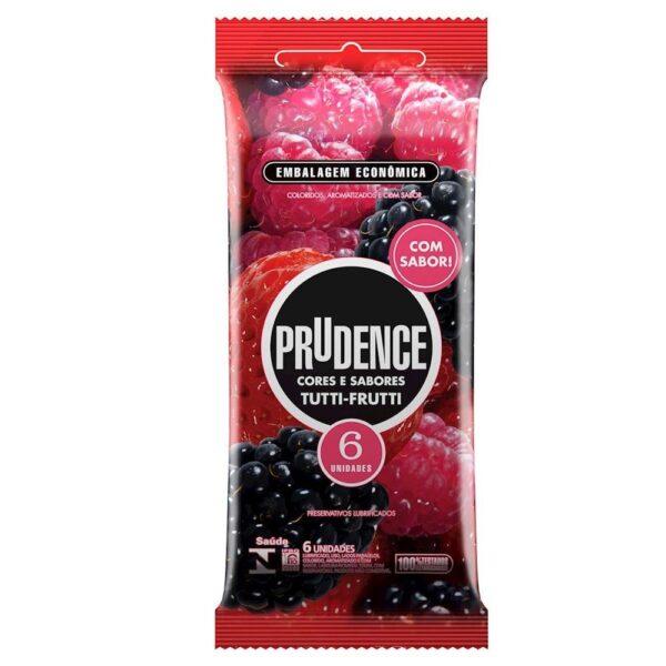 Preservativo Cor E Sabor Tutti- Frutti Com 6 Unid - Prudence