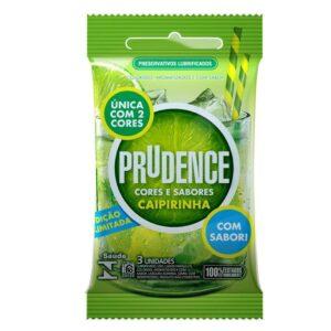 Preservativo Cor E Sabor Caipirinha Com 3 Unid - Prudence