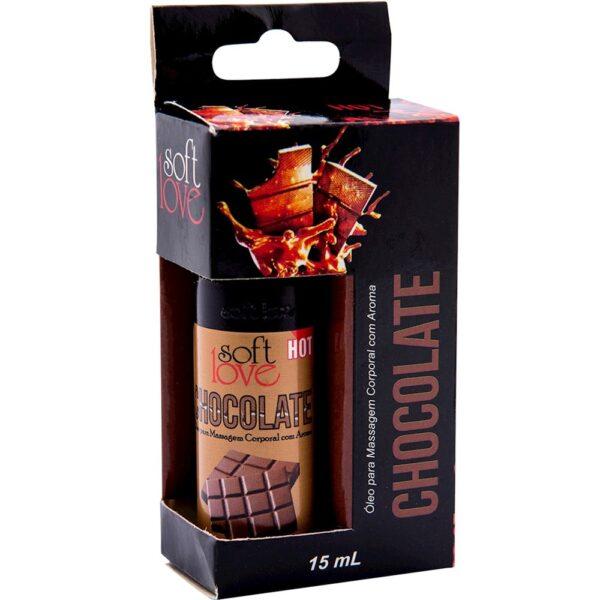Kit 03 Óleo chocolate para massagem intima que esquenta 15 ml Soft Love - Sexshop