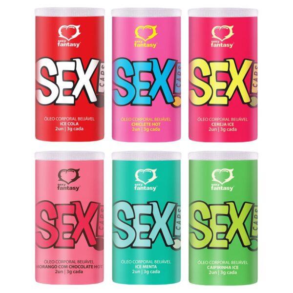 KIT 03 Bolinha Beijável SEX CAPS 2 UND Ice Cola - Sexy Fantasy
