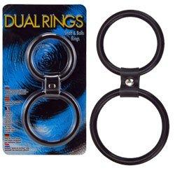 Anel Peniano Duplo Dual Rings Feito em Silicone Macio
