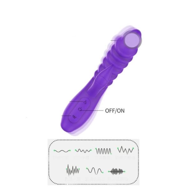 Vibrador Ella Dupla Estimulação Varinha vibratória - Roxa - Sex shop