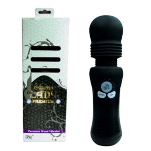 Vibrador Denma Lady Premium Preto em Silicone - LADS - Sex shop