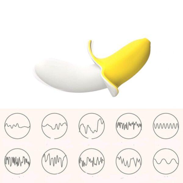 Vibrador Little Banana de Alta Potência Resistente a água - Sex shop