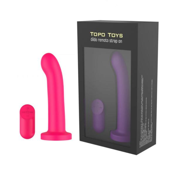 Plug Anal Vibrador Dildo Sliding em silicone ABS - TOPO TOYS - Sexshop