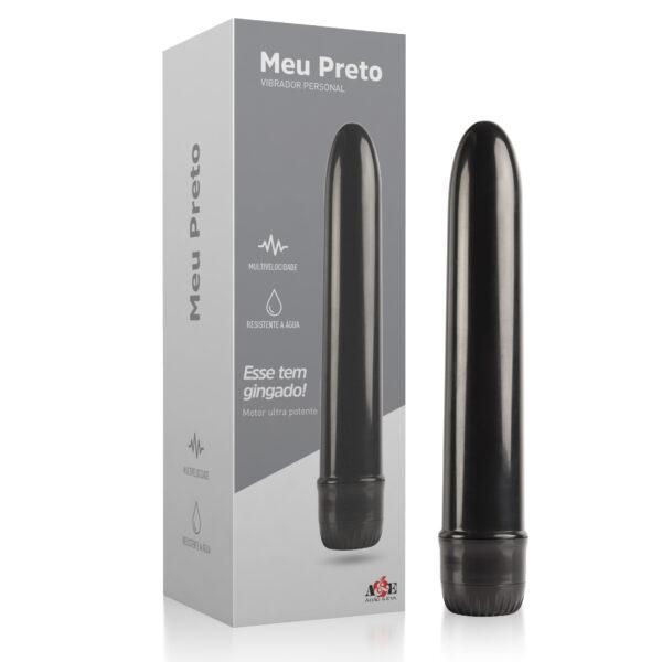 Vibrador Personal Meu Preto - Multivelocidade - Sex shop