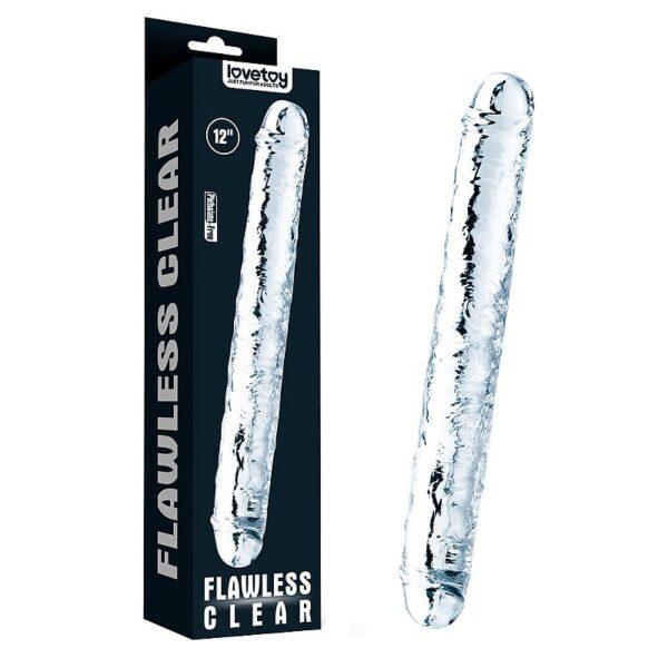 Pênis Duplo Dildo Transparente - Flawless Clear Double dildo 12 - Lovetoy
