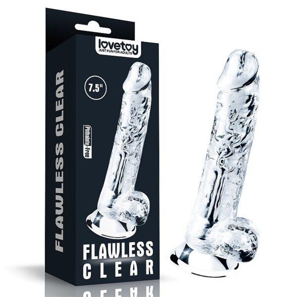 Pênis Realista Silicone Transparente - Clear Dildo 7.5 - Lovetoy